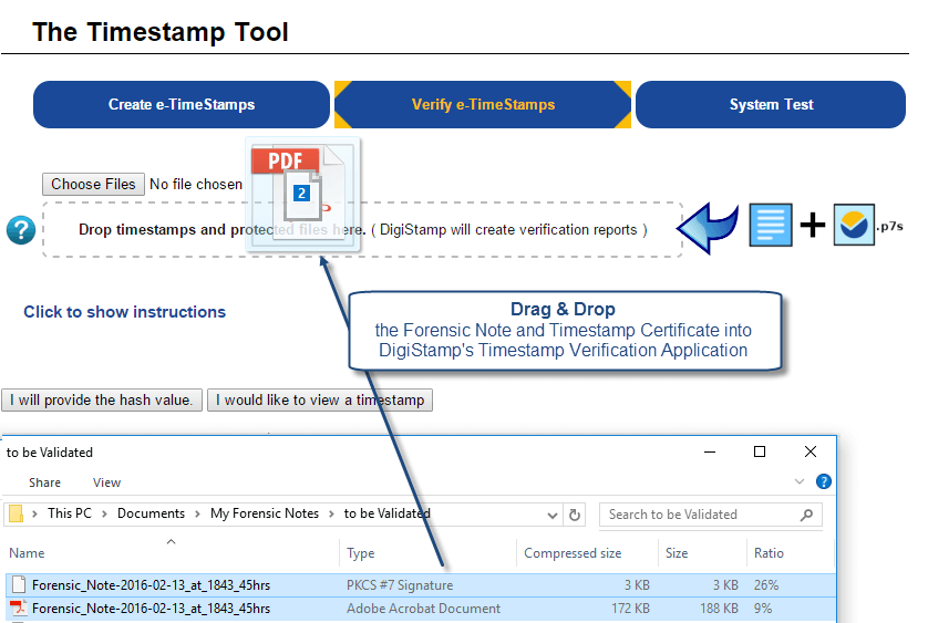 Forensic Notes : Using DigiStamp Verification Tool